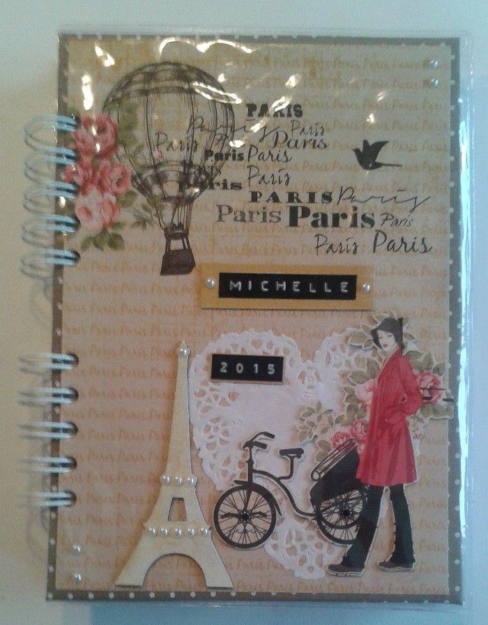Agenda Diário Paris II 2015 | Sweet Scraperia | Elo7