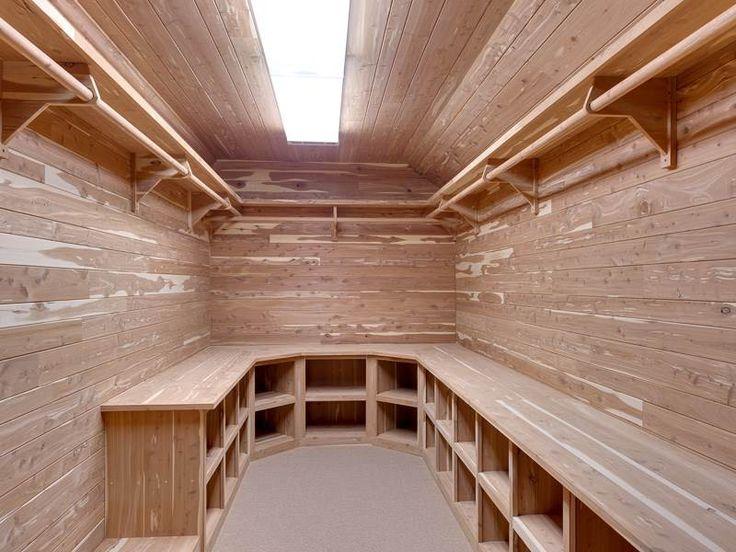 Walk-in cedar closet in luxury home in Acworth, Georgia