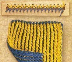 loom knitting diagrams