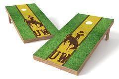 Wyoming Cowboys Single Cornhole Board - Field