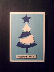 Zobacz zdjęcie Kartka na Boże Narodzenie, handmade, prosta choinka.