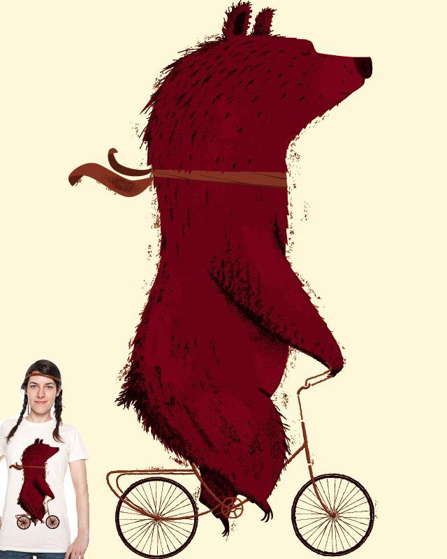 Morning Trip ... bear on a bike