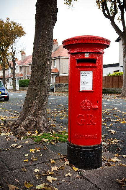 love the english post boxes