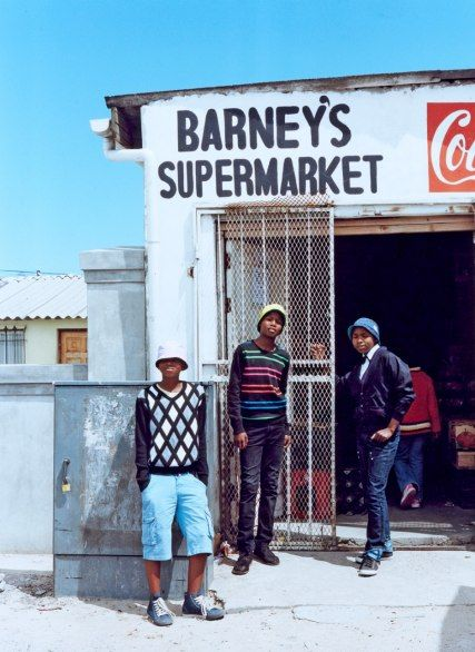 Hipsters hanging out in Gugulethu, a township on the outskirts of Cape Town.