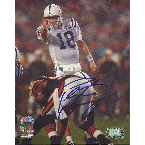 Peyton Manning Colts SB XLI Pointing at Line 16X20 Photograph (Signed in Blue) - This item is a Peyton Manning Colts SB XLI Pointing at Line 16X20 Photograph (Signed in Blue). Gifts > Licensed Gifts > Nfl > Denver Broncos. Weight: 2.00