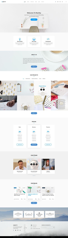 Marktty - Creative Agency PSD Template by _NILE | ThemeForest