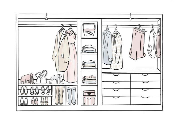 Consigue un vestidor en poco espacio