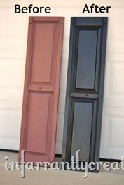 DIY Home Ideas | Improve your home's curb appeal by spray painting your shutters with this DIY tutorial!