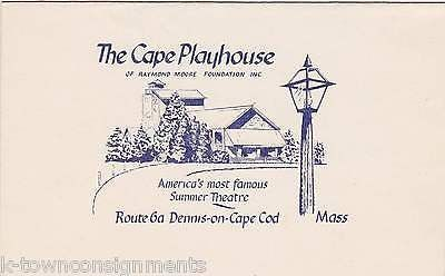 CHARLES MOONEY THEATRE DIRECTOR AUTOGRAPH SIGNED CAPE COD PLAYHOUSE PROMO CARD