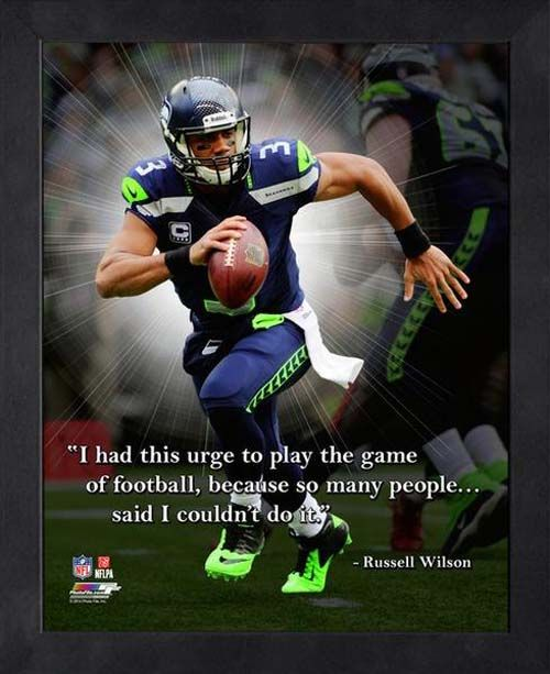 seahawks Russell Wilson Quotes | NFL Seattle Seahawks Shop By Category Wall Decorations Russell Wilson ...