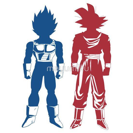 goku and vegeta dragon ball z tshirt posters