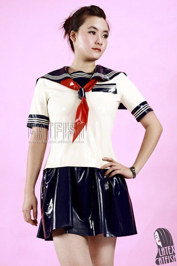 Seifuku School Suit Nautical Latex Dress School