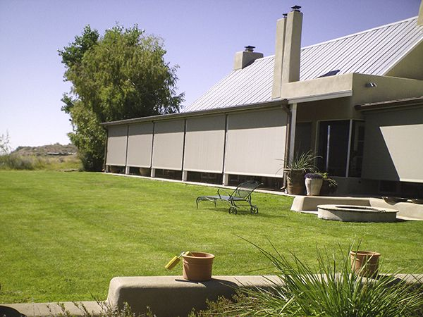 Marvelous Patio Wind And Solar Screens Enhance Privacy And Protect Outdoor Living