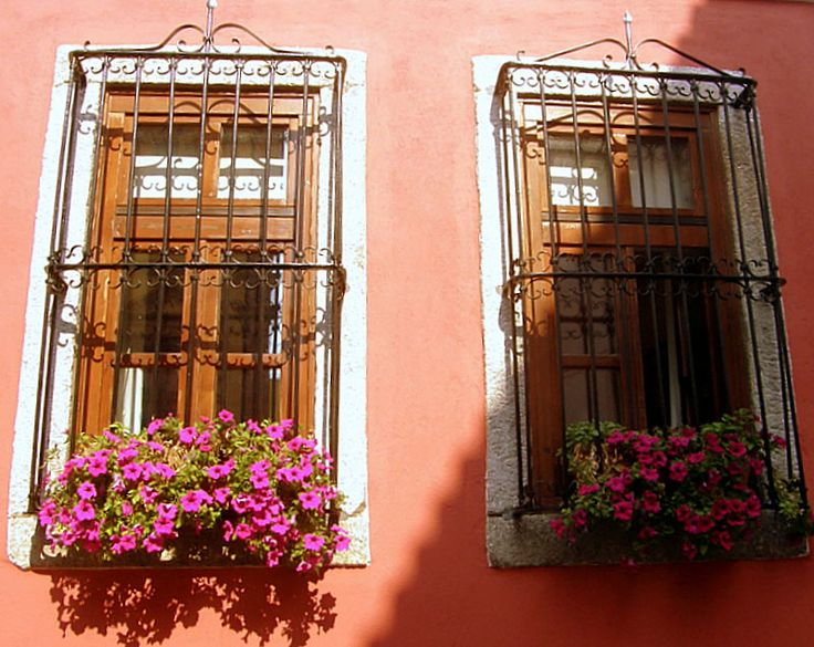 Windows in old city of Xanthi, Thrace_ Greece