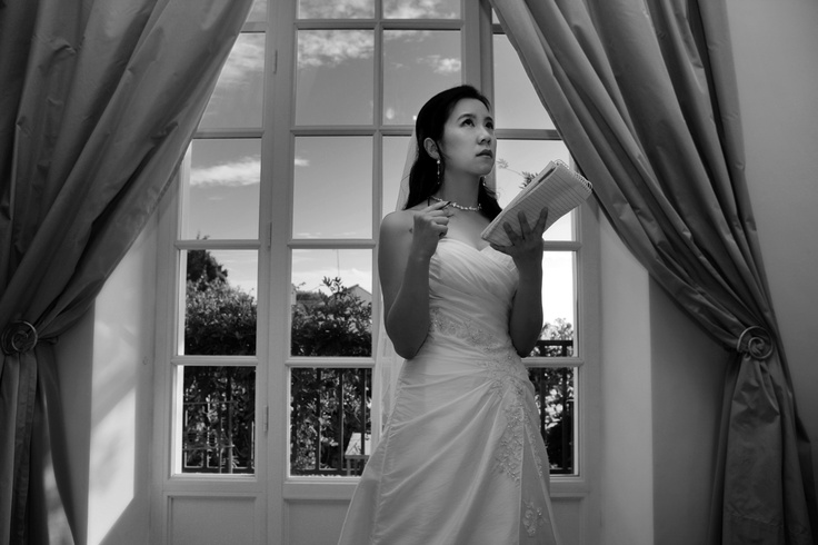 bride getting ready at Villa Maria