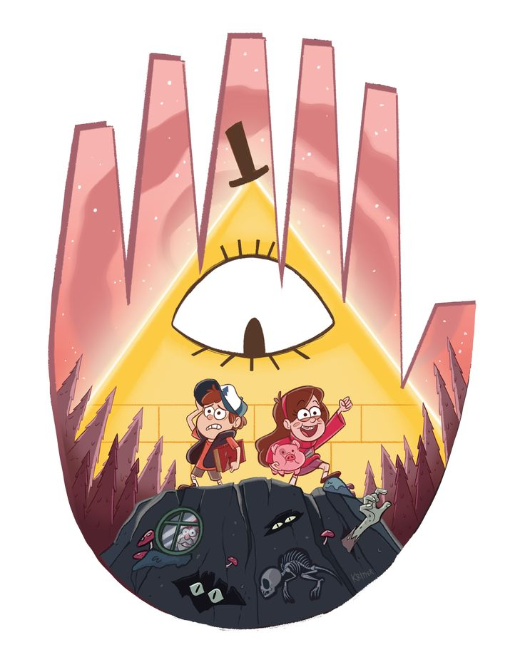 """kritterart: """"My piece for the """"Farewell to the Falls"""" Gravity Falls gallery at Gallery Nucleus tomorrow (Saturday, Aug 6th) at 6 PM!! Can't wait to see everyone's work! If you're in town, go check it..."""