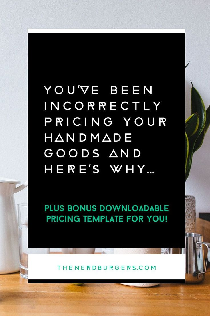 You've been incorrectly pricing your handmade goods and here's why: Creatives often undervalue their own skills and expertise and only charge what they think the market will pay. If you've always had trouble pricing your handmade work, we'll break it down, bit by bit, so you can gain a better understanding of the numbers and how to apply the formula to the products or services you sell in your handmade business. Click through to discover the simple formula you can follow.