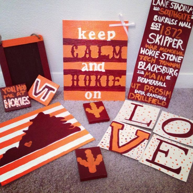 Hokie Canvas   Would Be Cute To Do Virginia Canvas In Wine And Blue Part 58