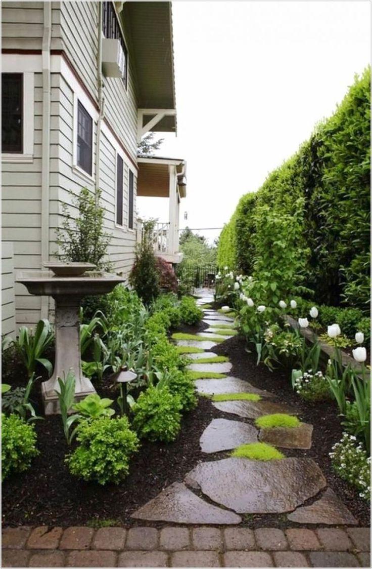 46 Erstaunliche Ideen Fur Die Gartengestaltung Im Vorgarten Side Yard Landscaping Small Backyard Landscaping House Landscape Landscaping ideas for side of the house