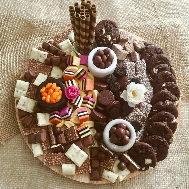 """116 Likes, 7 Comments - Grazing Tables & Food Platters (@nibbleandgraze) on Instagram: """"The Chocolate/Sweets Platter, one of the options you can order 