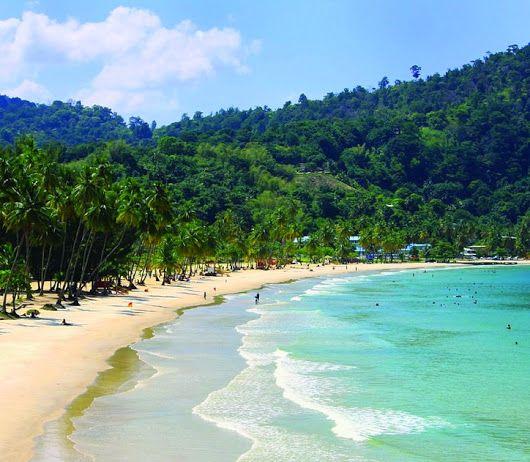 Beach in Trinidad Island, Caribbean   Trinidad has two seasons per calendar y...