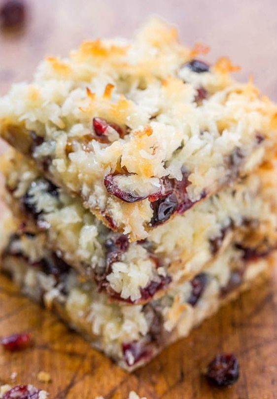 Magic cookie bars cranberries - 6 recettes de magic cookie bars à copier - Elle à Table