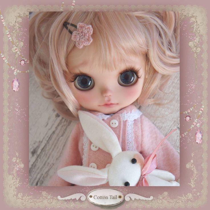 ◆CottonTail ◆ ピンクコートのロリータBabyちゃん カスタムブライス ピュアニーモボディ 【USED 難あり】