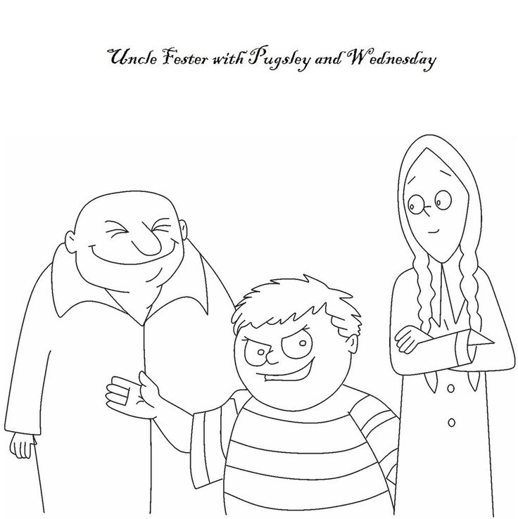 The Addams Family coloring page | Vintage coloring books ...