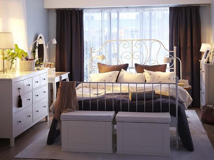 Leirvik Bed With Hemnes Dressers Bedroom Pinterest Good Books Ikea Ideas And Vanities