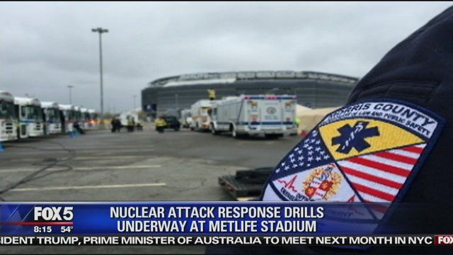 FEDS Begin Nuclear Response Drills at MetLife Stadium in Northern New Jersey.