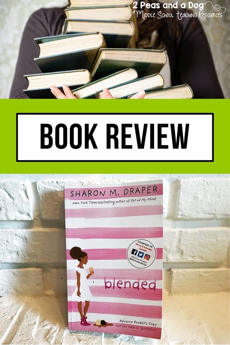 "Book Review ""Blended"" Middle school reading, High school"
