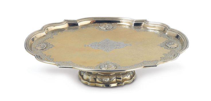 An Augsburg régence partially gilt silver tazza - Auktionshaus Lempertz #lempertz #silver #artdeco #art #artauction #cologne