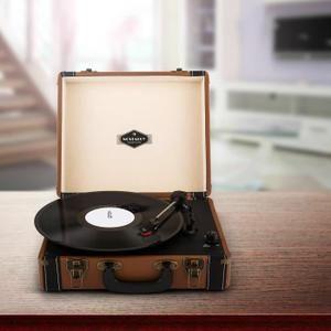 Auna Jerry Lee platine vinyle rétro LP USB -marron - platine vinyle, avis et prix pas cher - Cdiscount