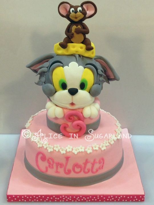 55 best Tom Jerry Cakes images on Pinterest Tom and jerry cake