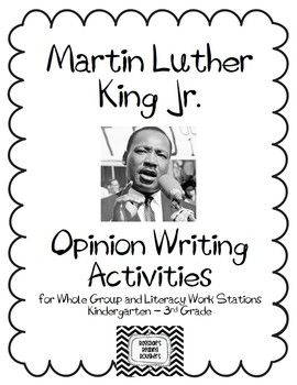 Martin Luther King Jr. Fact and Opinion Writing Activities