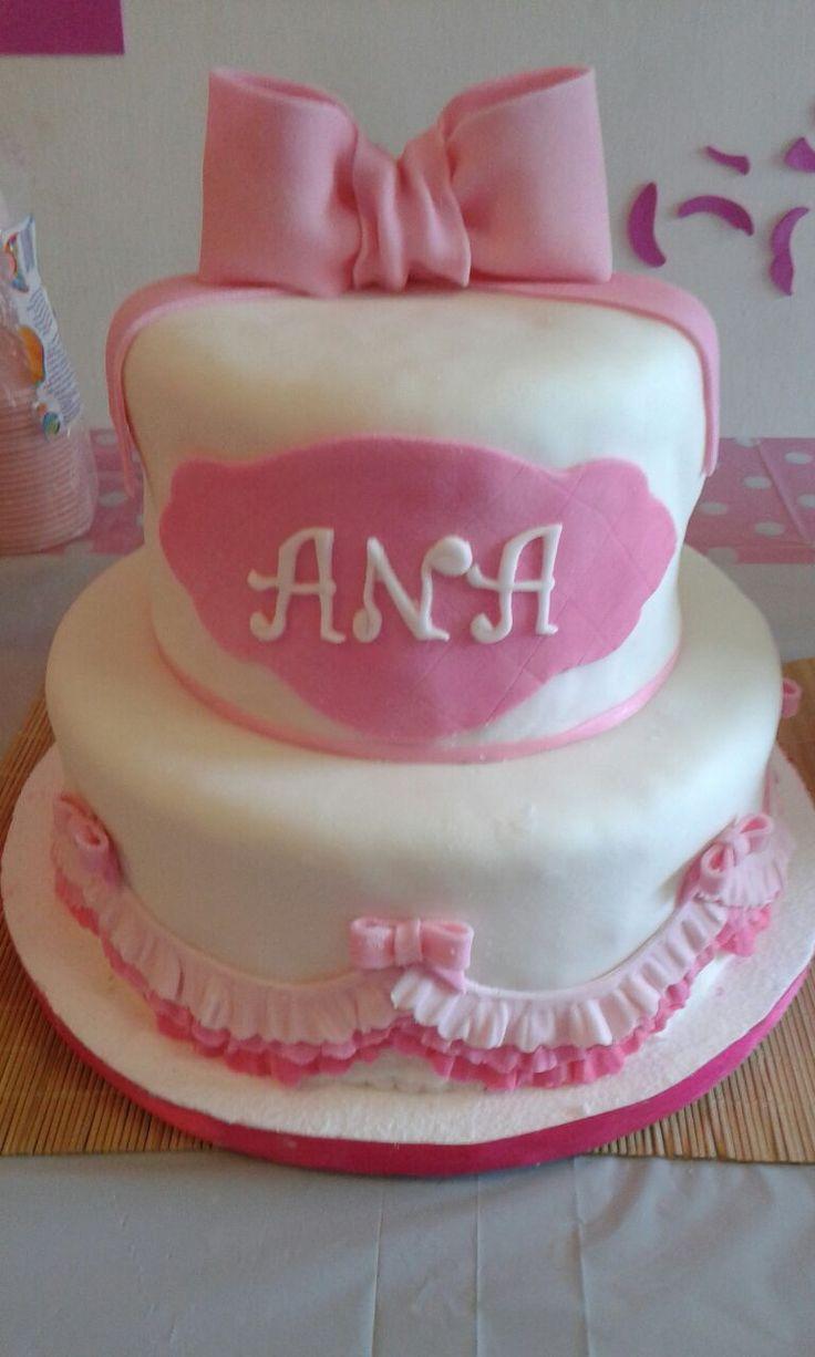 princesa Cake pink lazo