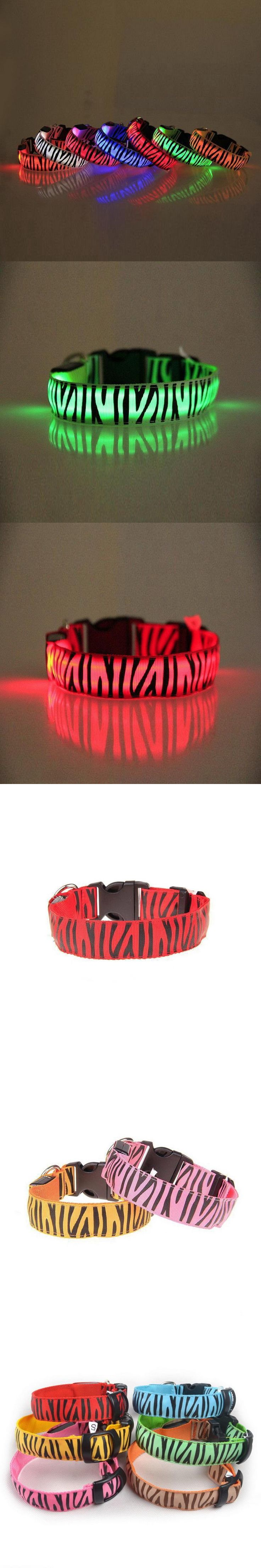 Waterproof Safety Pet Collar LED Glow Necklace Pet Products Electric Flashing Lighted Up Cat LED Dog Collar S M L XL