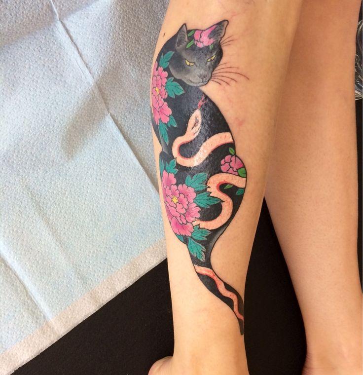Horitomo Cat Tattoo