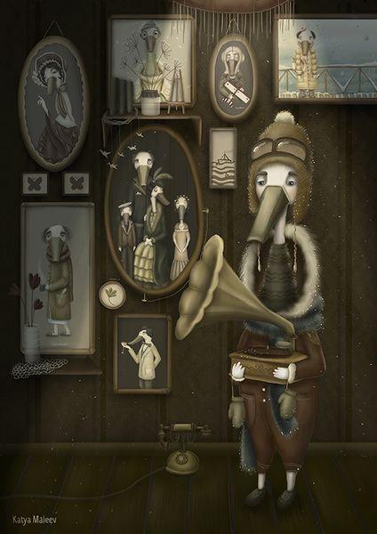 «Семья». Катя Малеев. #helloposter #poster #posters #art #modernart #printart #illustrators #illustration