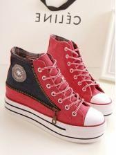 Autumn Korean style High zipper canvas leisure student shoes $ 11.35