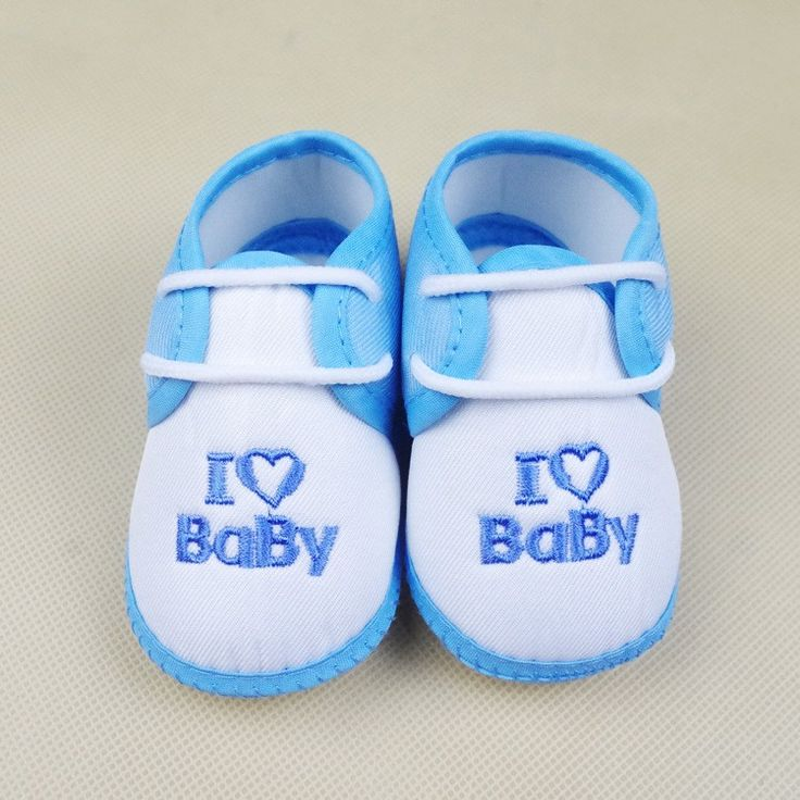 Lovely Toddler First Walkers Baby shoes Round Toe Flats Soft Slippers Shoes I Love Baby yeezy shoes