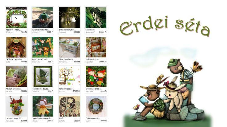 #Erdei séta - Nanuska szemezgetője  Illusztráció: Bubadesign - Cserkészek http://www.meska.hu/ProductView/index/727958  #forest #handmade #wood
