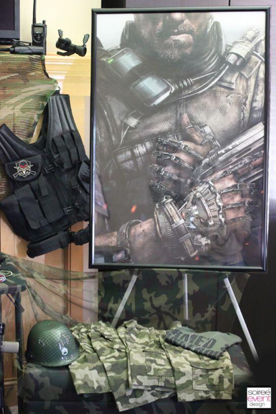 Boy's Call of Duty Birthday Party Decor Ideas