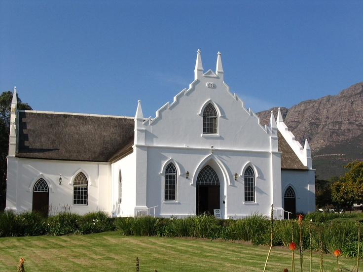 Old Anglican church in Franschoek Valley, South Africa; photo by Heather Bisson