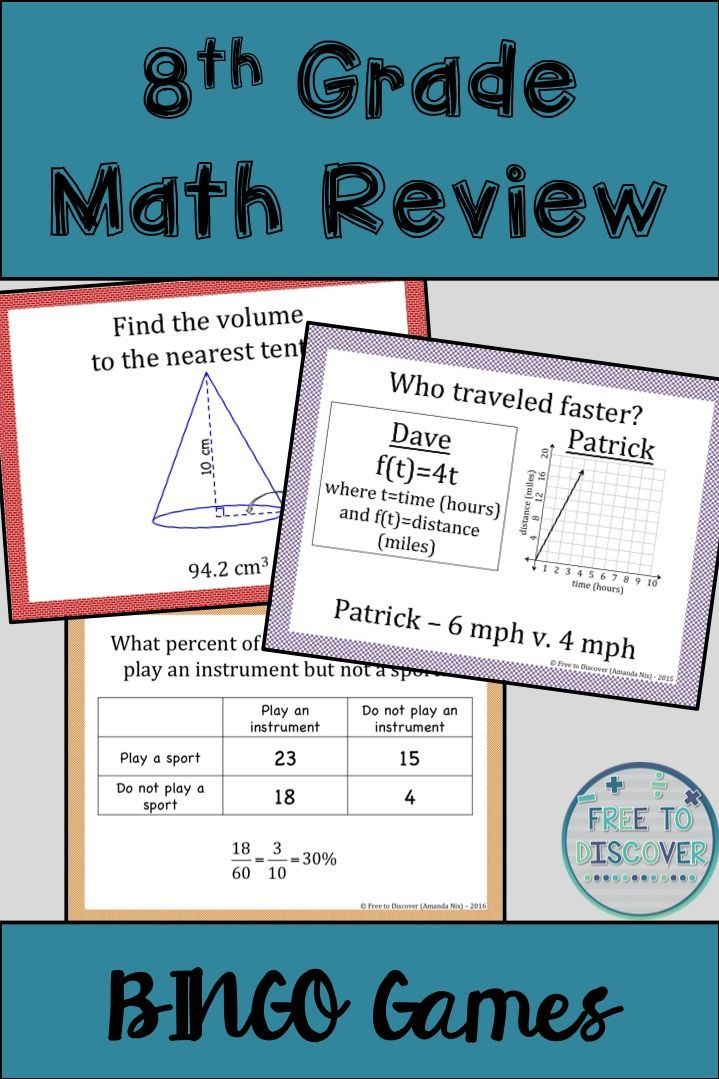8th grade math review test pdf
