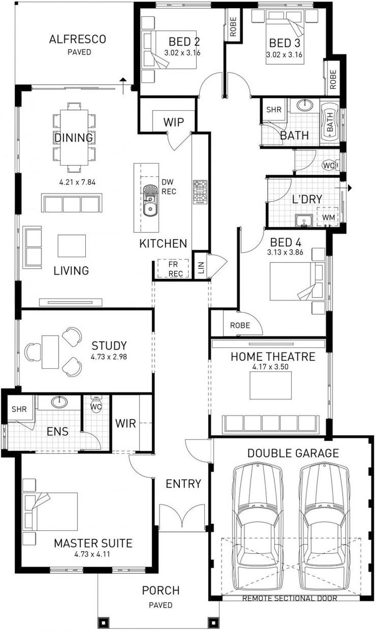 New Hampton  Single Storey Home Design Foundation Floor Plan  WA1105 best Houses images on Pinterest   Floor plans  House floor  . Large Home Designs. Home Design Ideas