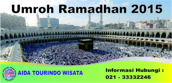 Kami yang merupakan Travel Biro Penyelenggara Umroh dan Haji Aida Tourindo Wisata, membuka program umroh di Bulan Ramadhan, ada beberapa program yang kami tawarkan di bulan ramadhan ini yaitu Paket Umroh Awal Ramadhan 2015, Paket Umroh Pertengahan Ramadhan, dan Paket Umroh Akhir Ramadhan 2015 (Umroh lailatul qadr).