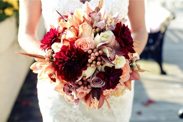 fall wedding colors mint | Fall Wedding Flowers - Color Palette
