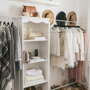 Home Design. White Turning A Bedroom Into A Closet Come With White Wooden Shelves Design And Strong White Hanging Rails Decor And Standing Wooden Rack Design From Maple Together With Simple White Fur Rug Decor. Turning A Bedroom Into Winsome A Closet