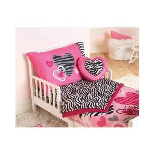 The Garanimals Zebra Striped Print With Hearts Toddler Bedding Set is the perfect bright, cheerful set for your little princess. Description from amazon.com. I searched for this on bing.com/images